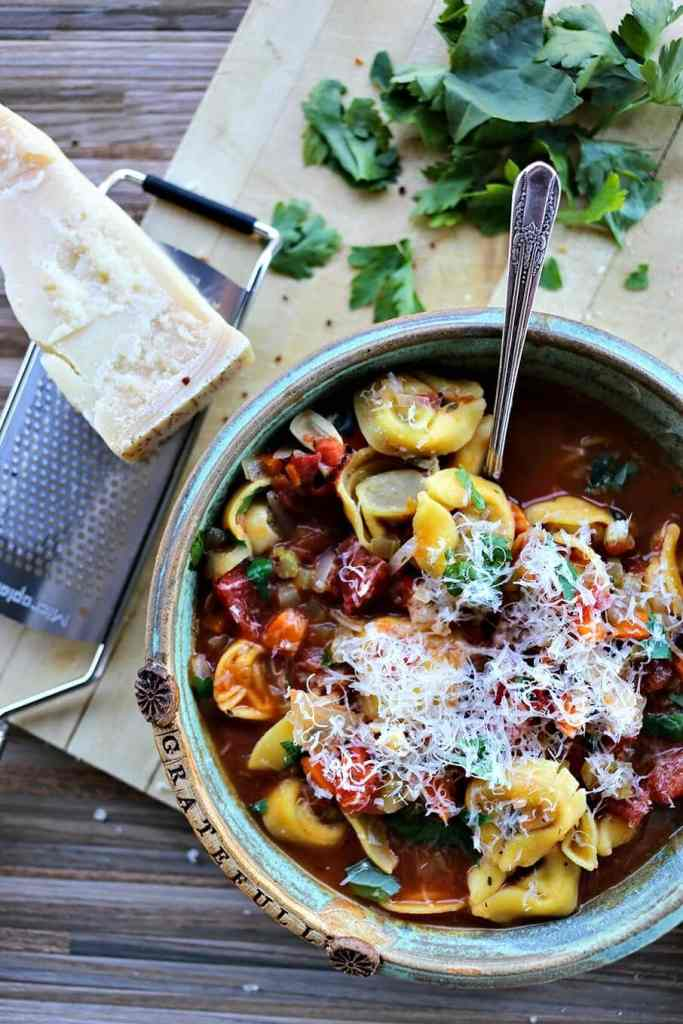 Tortellini Vegetable Soup {Foodie with Family}