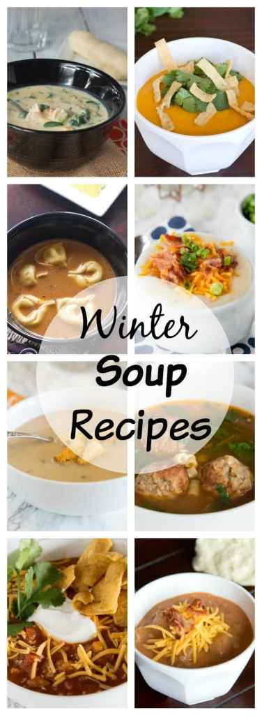 Soup Recipes - 16 soup you are going to want to try this winter. Warm up on a cold night with a delicious bowl of soup.