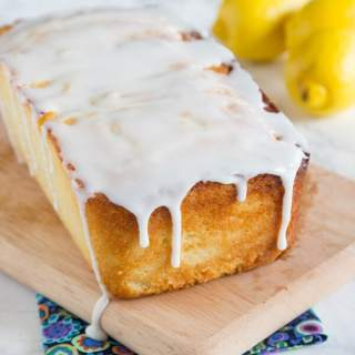 Lemon Ricotta Pound Cake - a dense and super moist lemon pound cake topped with a lemon glaze.