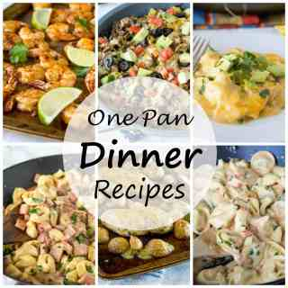 One Pan Dinner Recipes - easy dinner recipes that are cooked in one pan and is 30 minutes or less! Easy clean up and a happy family!