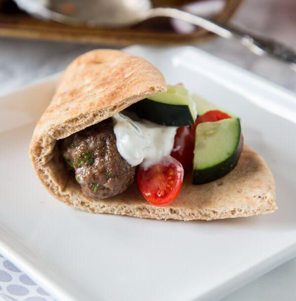 Sheet Pan Greek Meatballs