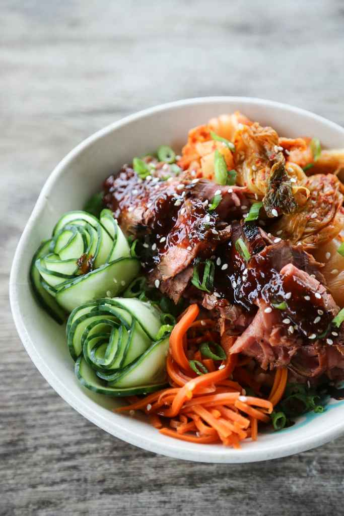 Korean BBQ Steak Rice Bowls {Foodie with Family}