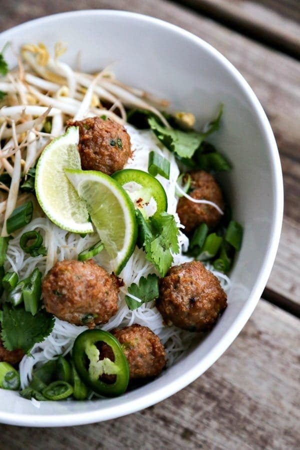 Turkey Meatball Pho {Foodie with Family}