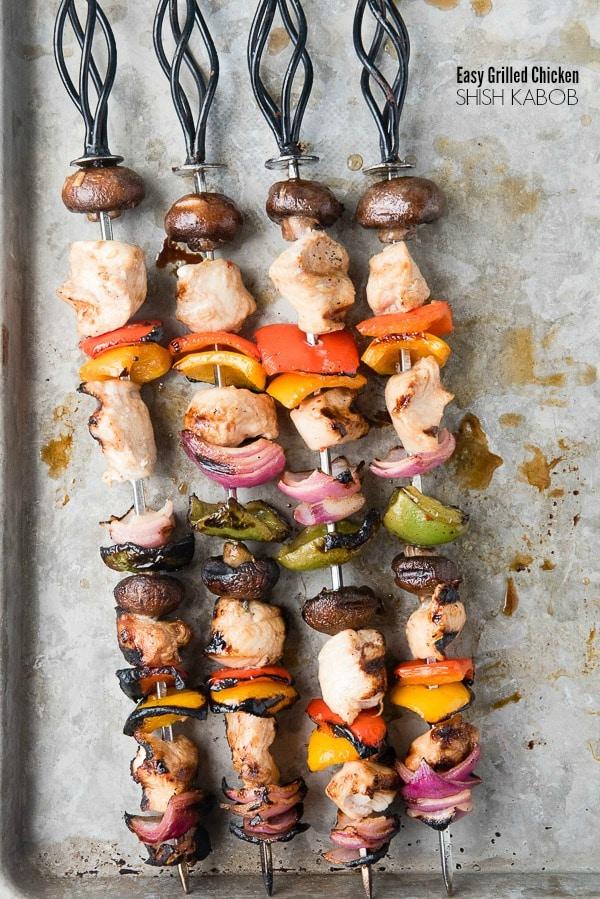 Easy Grilled Chicken Shish Kebobs {Boulder Locavore}