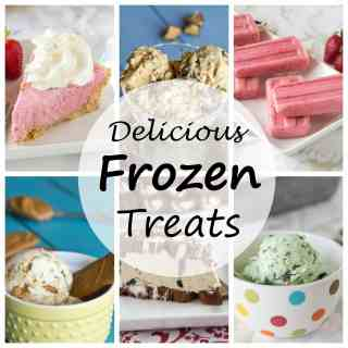 Delicious Frozen Treats - get in the mood for summer with these cool and refreshing treats! Popsicles, ice cream, milkshakes and even cake!