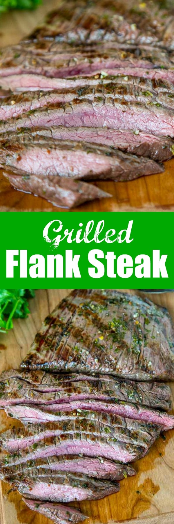 Grilled Chile Lime Flank Steak - grilled flank steak that is marinated in olive oil, lime juice, cilantro, and jalapeno. It goes on the grill for just minutes for a super fast meal the whole family will love.