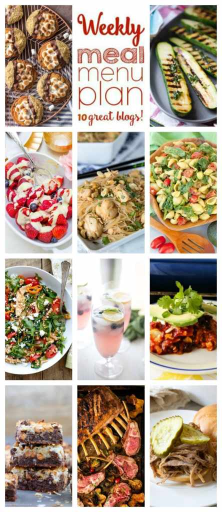 Weekly Meal Plan Week 108– 10 great bloggers bringing you a full week of recipes including dinner, sides dishes, and desserts!