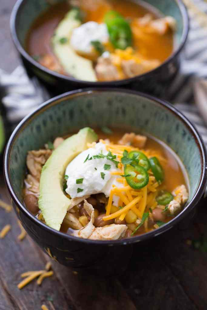 Slow Cooker Chicken Chili {Lemons for Lulu}