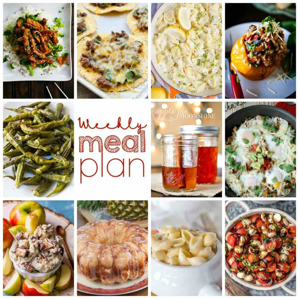 Weekly Meal Plan Week 113– 10 great bloggers bringing you a full week of recipes including dinner, sides dishes, and desserts!