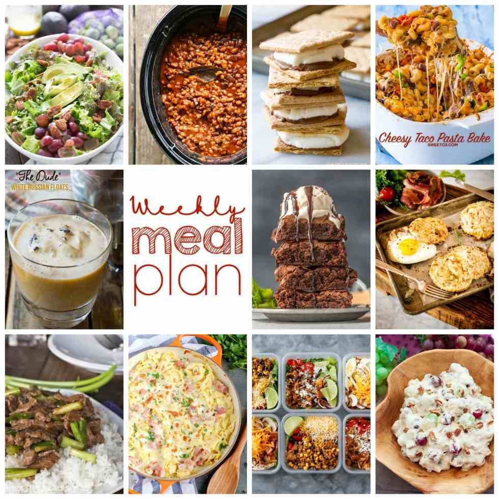 Weekly Meal Plan Week 117– 10 great bloggers bringing you a full week of recipes including dinner, sides dishes, and desserts!