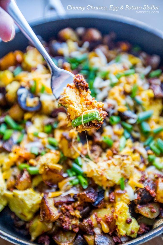 Chorizo, Egg & Potato Skillet {Sweet C's}