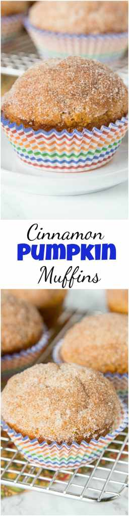 Cinnamon Pumpkin Muffins - soft tender pumpk