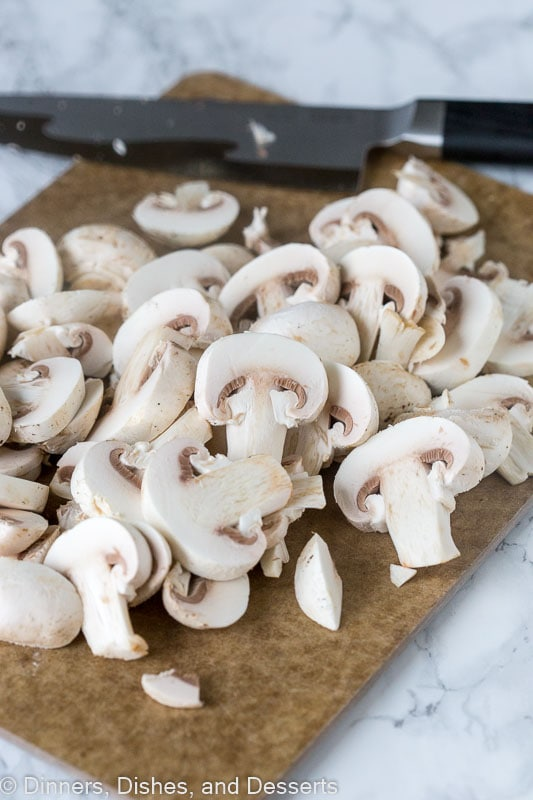 Easy Sauteed Mushrooms - start with thinly slicing
