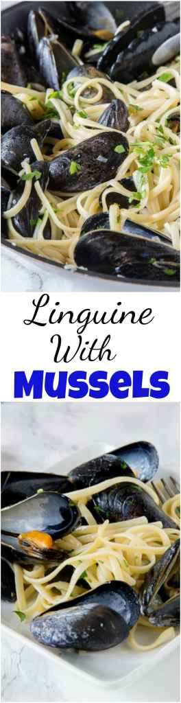 A bowl of food, with Mussel and Pasta
