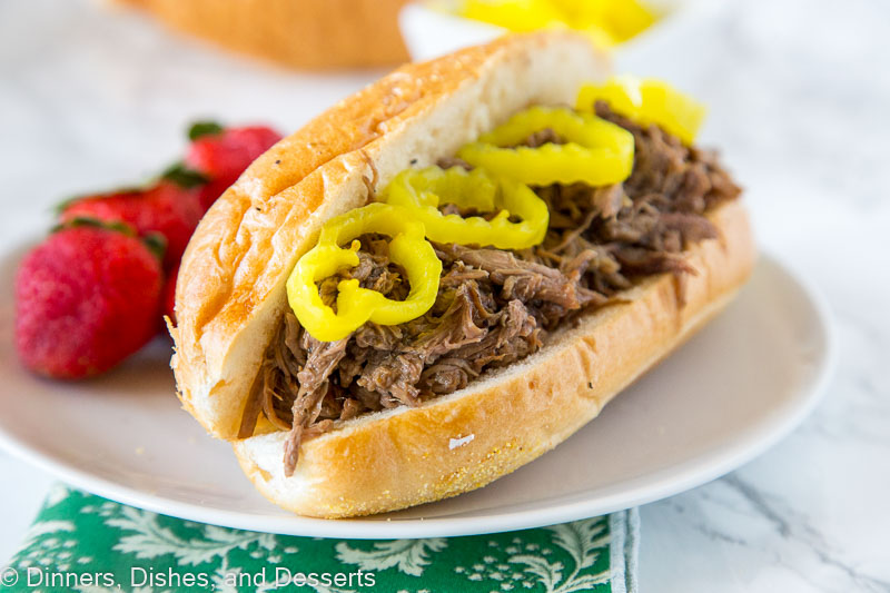 A super easy Italian Beef Recipe for the crock pot