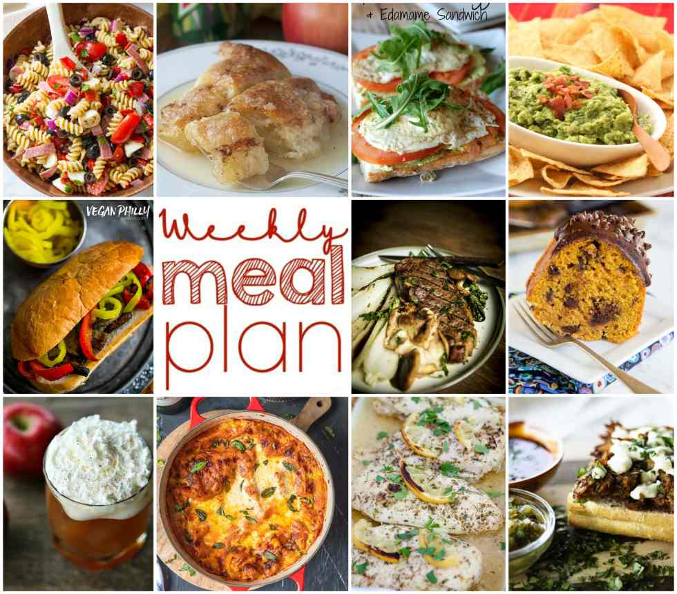 Weekly Meal Plan Week 119 -10 great bloggers bringing you a full week of recipes including dinner, sides dishes, and desserts!