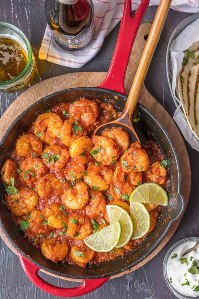 Skillet Chipotle Shrimp {The Cookie Rookie}