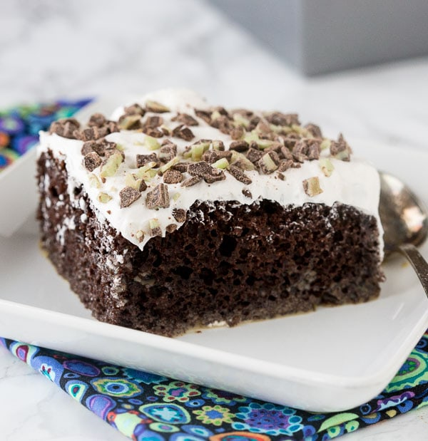 Irish Cream Chocolate Poke Cake