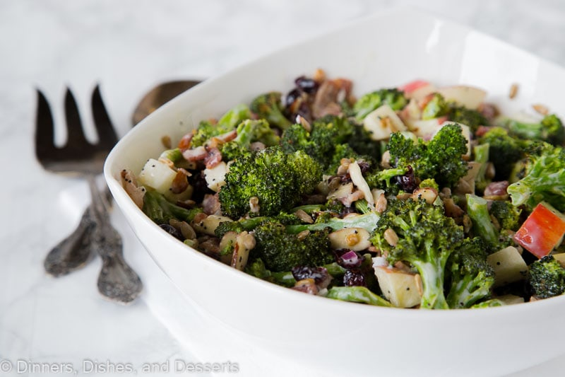 Broccoli Salad Recipe - an easy recipe for a fall or Thanksgiving side dishes