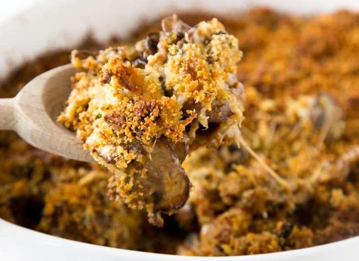 Sausage Stuffed Mushroom Casserole