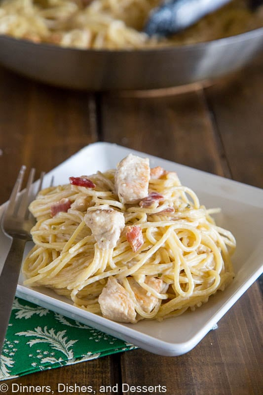 Creamy Chicken Pasta - white sauce for pasta that you don't have to feel guilty about