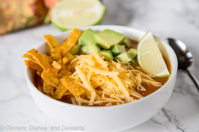Easy Chicken Tortilla Soup - ready in minutes and delicious any night of the week