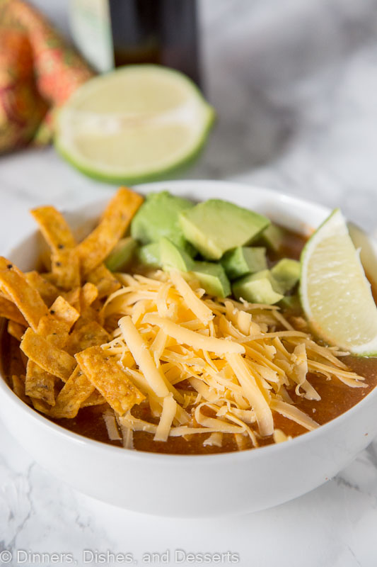 Make Tortilla soup in the instant pot or on the stove top in minutes!