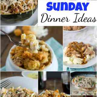 Sunday Dinner Ideas - the weekend is for special dinners, taking a little bit more time in the kitchen, and making something together as a family.  Here are 20 of my favorite Sunday dinner recipes. #dinner #dinnerideas #recipes #food #pasta #comfortfood #cooking