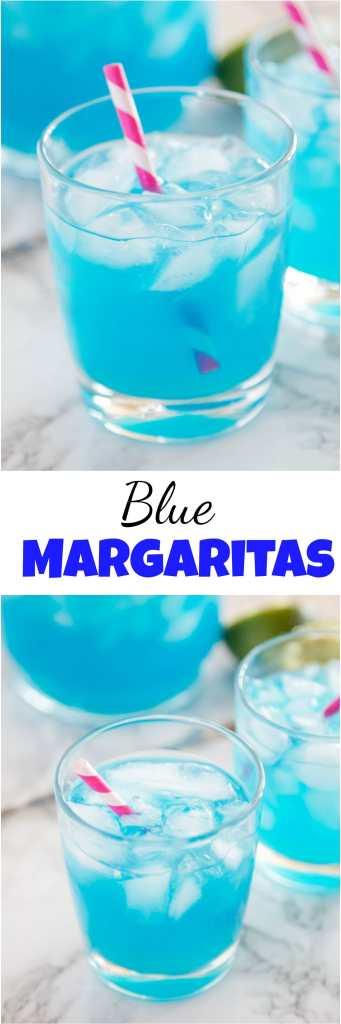 blue margarita collage
