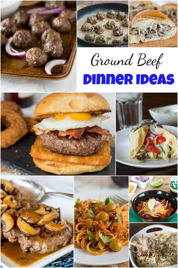 ground beef dinner ideas collage