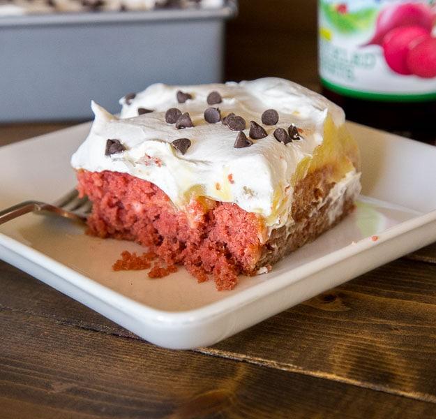 Beet Red Velvet Poke Cake
