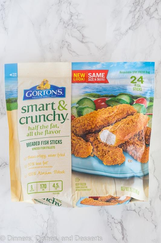 package of Gortons Smart & Crunch fish sticks