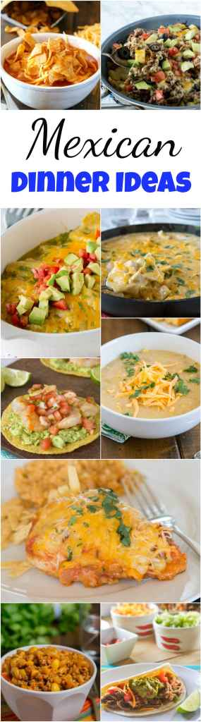 Mexican Dinner Ideas - everyone loves Mexican food!  Tacos, enchiladas, quesadillas, margaritas and more!  But sometimes you want to branch out from the norm.  Here are over 40 of my favorite Mexican dinner ideas for any night of the week!