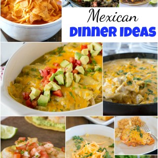 Mexican Dinner Ideas - everyone loves Mexican food!  Tacos, enchiladas, quesadillas, margaritas and more!  But sometimes you want to branch out from the norm.  Here are 25 of my favorite Mexican dinner ideas for any night of the week!