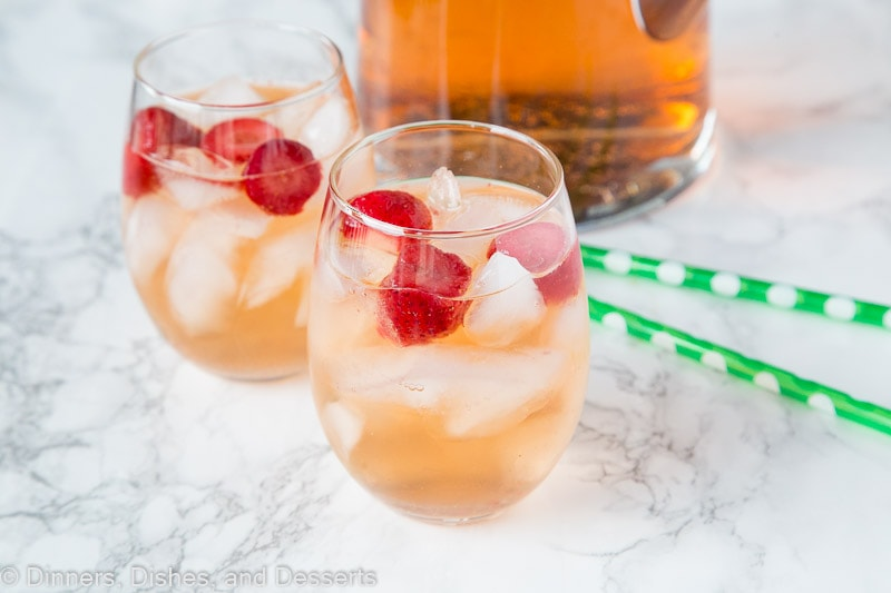 Cool and refreshing strawberry rum punch
