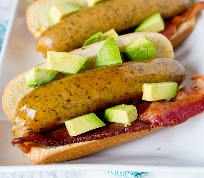 Bacon Avocado Beer Brats