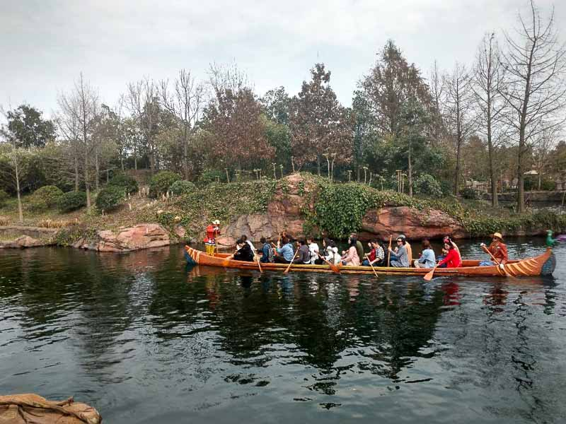 Shanghai Disney Explorer Canoes