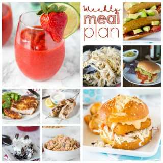 Weekly Meal Plan Week 152 - Make the week easy with this delicious meal plan. 6 dinner recipes, 1 side dish, 1 dessert, and 1 fun cocktail make for a tasty week!