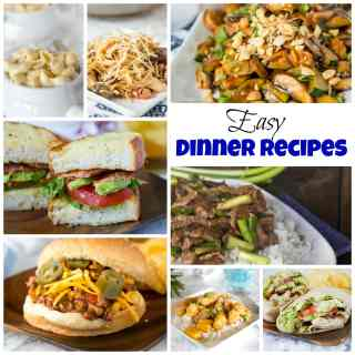 Easy Dinner Recipes - dinner doesn't have to be complicated. You can get dinner on the table in just minutes with all of these easy dinner recipes!