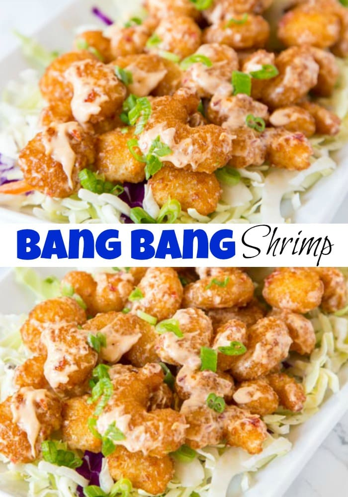 Bang Bang Shrimp Recipe - Crispy fried shrimp that is tossed in a sweet, spicy, and tangy sauce. The ultimate appetizer that will soon become your dinner!