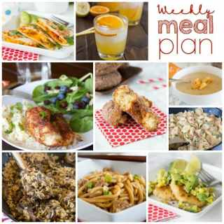 Weekly Meal Plan Week 168 - Make the week easy with this delicious meal plan. 6 dinner recipes, 1 side dish, 1 dessert, and 1 fun cocktail make for a tasty week!