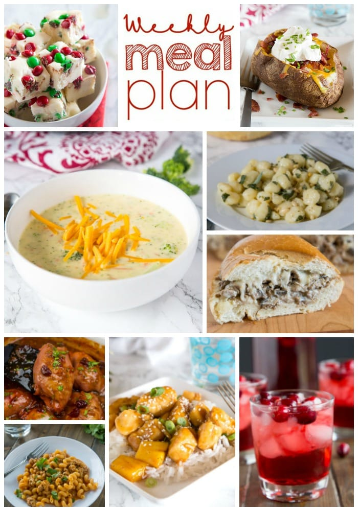 Weekly Meal Plan Week 178 - Make the week easy with this delicious meal plan. 6 dinner recipes, 1 side dish, 1 dessert, and 1 fun cocktail make for a tasty week!