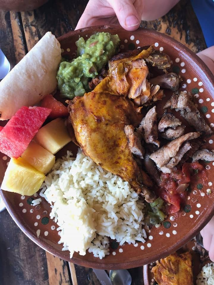 Lunch plate from Cozumel