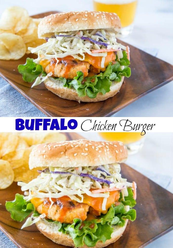 Buffalo Chicken Burger collage pin