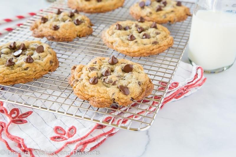 doubletree cookies horiztonal image on wire rack