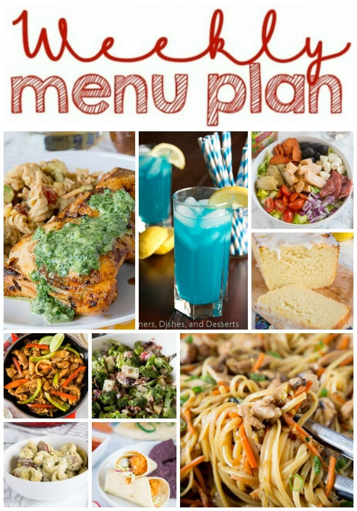 weekly meal plan long collage