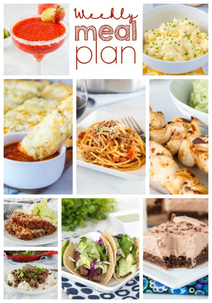 meal plan collage for pinterest