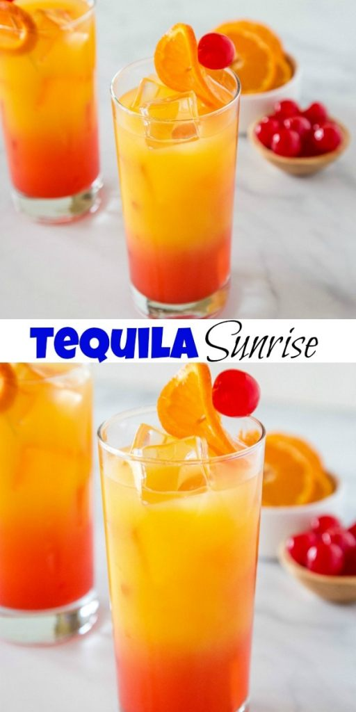 tequila sunrise collage pin