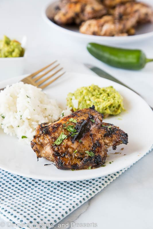 jerk chicken recipe with rice and guacamole