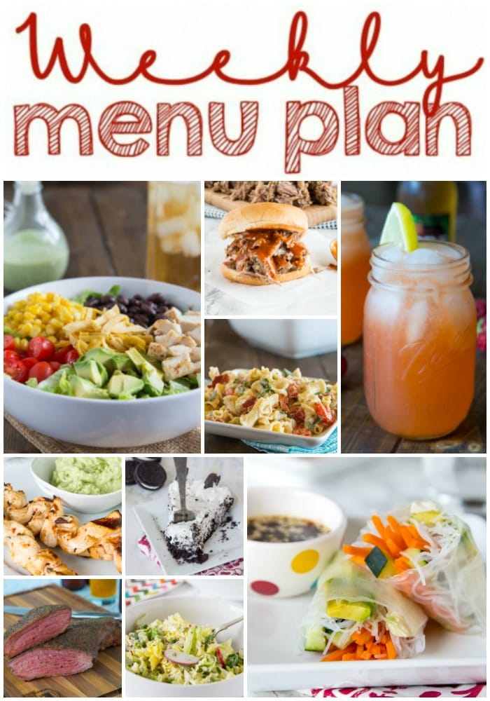weekly meal plan collage